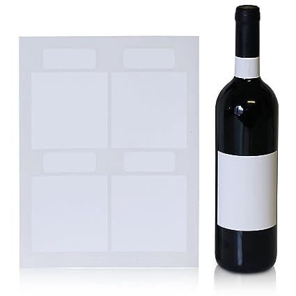Amazon.com : Wine Bottle Labels, 40 Blank Water Resistant Wine ...