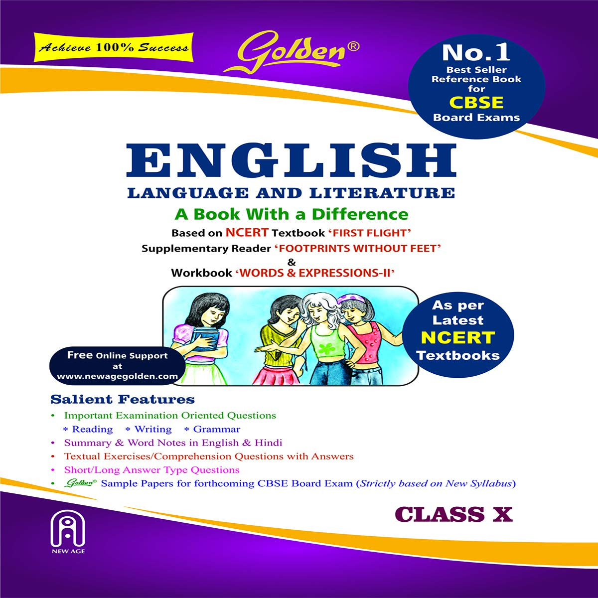 Golden English Language and Literature: (With Sample Papers) A book with a Differene for Class – 10 (For 2022 Board Exams)
