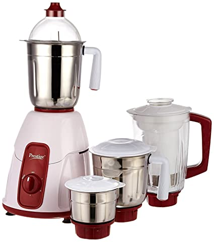 Buy Prestige Elegant Mixer Grinder, 750W, 3 Stainless Steel Jar