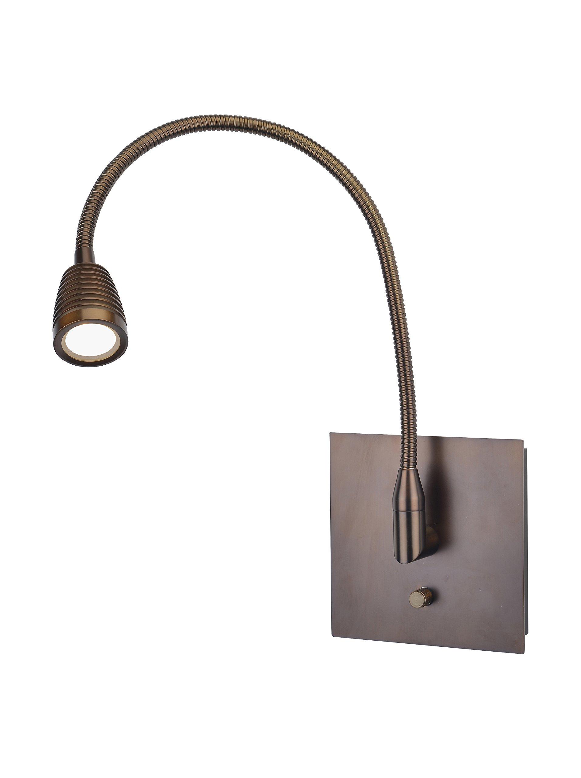 TaskWerx - LED Gooseneck Wall Task Lamp - Bronze Finish by Access Lighting