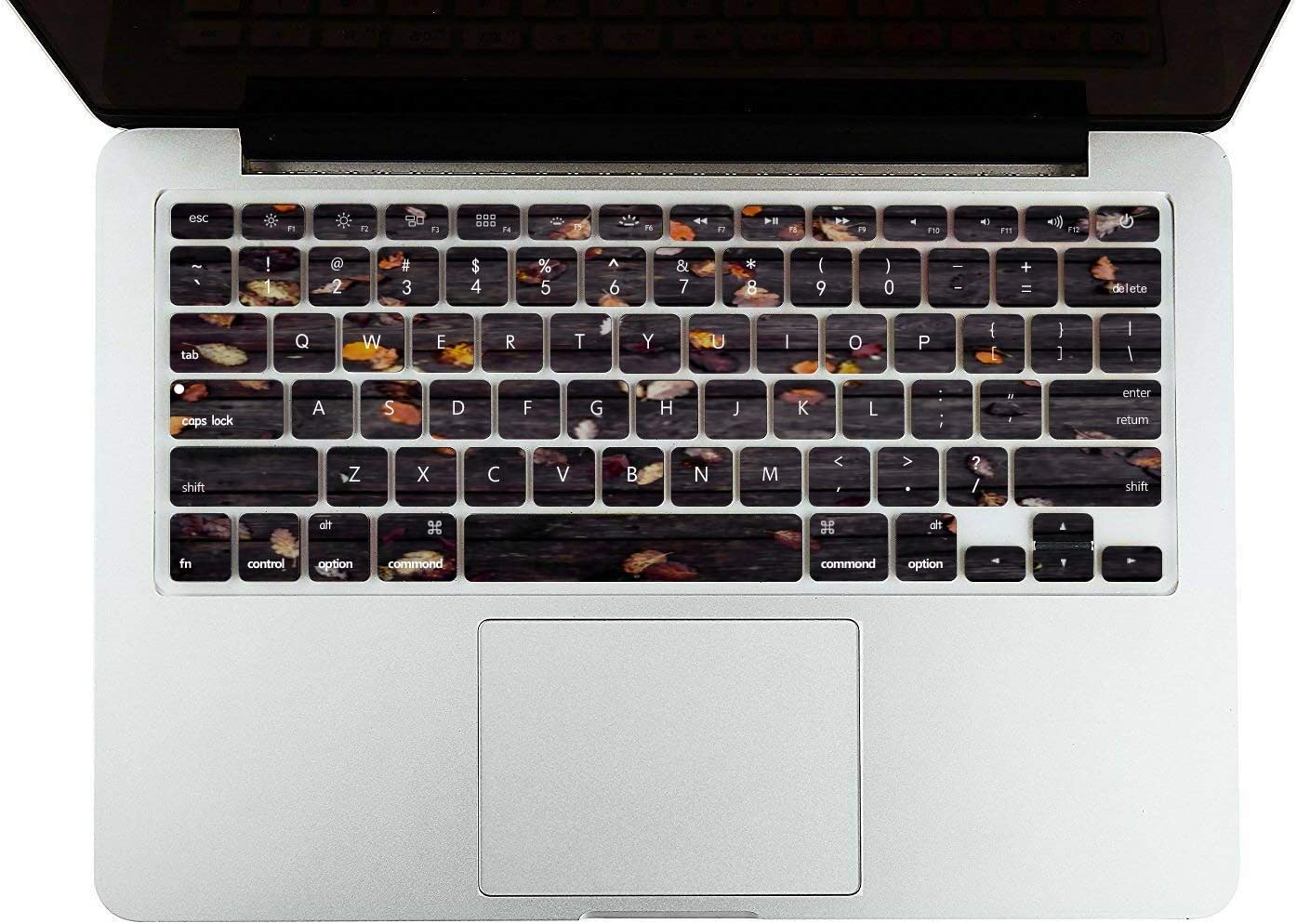 MacBook Pro Case Autumn Leaves On Wooden Background Dark MacBook Air 11 //A1370//A1465 Plastic Case Keyboard Cover /& Screen Protector /& Keyboard Clean