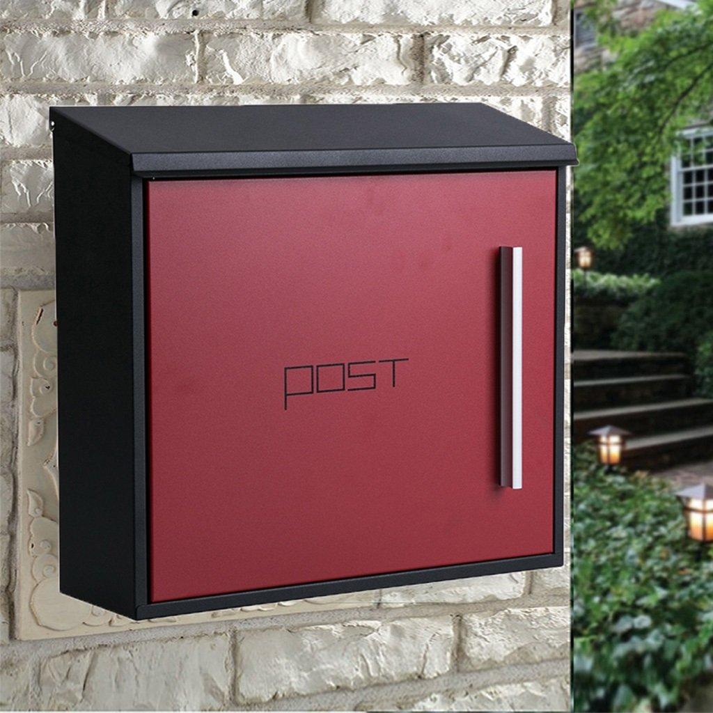 PLL ヨーロッパの近代的なステンレス製のレターボックス屋外の郵便箱大きな屋外の郵便箱 (Color : A) B07CVFNWRN 15454  A