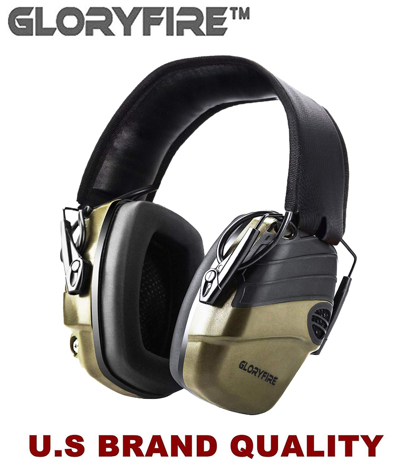 GLORYFIRE Electronic Shooting Earmuff Sound Amplification 6 Times Electric Earmuffs Perfect for Hunting and Shooting by GLORYFIRE
