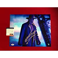 """$277 » UNDERTAKER,""""Autographed"""" (/ DNA) WWE 11x14 Photo (Scarce/Vintage) - PSA/DNA Certified - Autographed Wrestling Photos"""