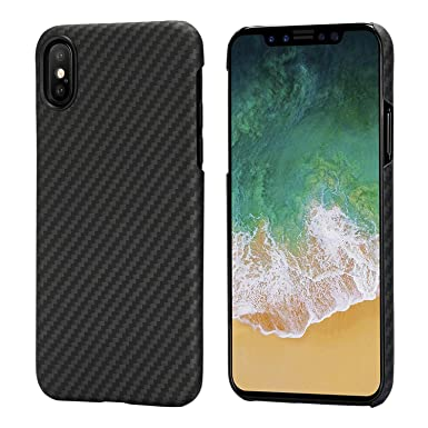 save off af501 e4829 pitaka iPhone X Case, Magcase Aramid Fiber[Real Body Armor Material] Phone  Cover,Ultra Thin(0.65mm) Super Light(14g) Strongest Durable Snugly Fit ...