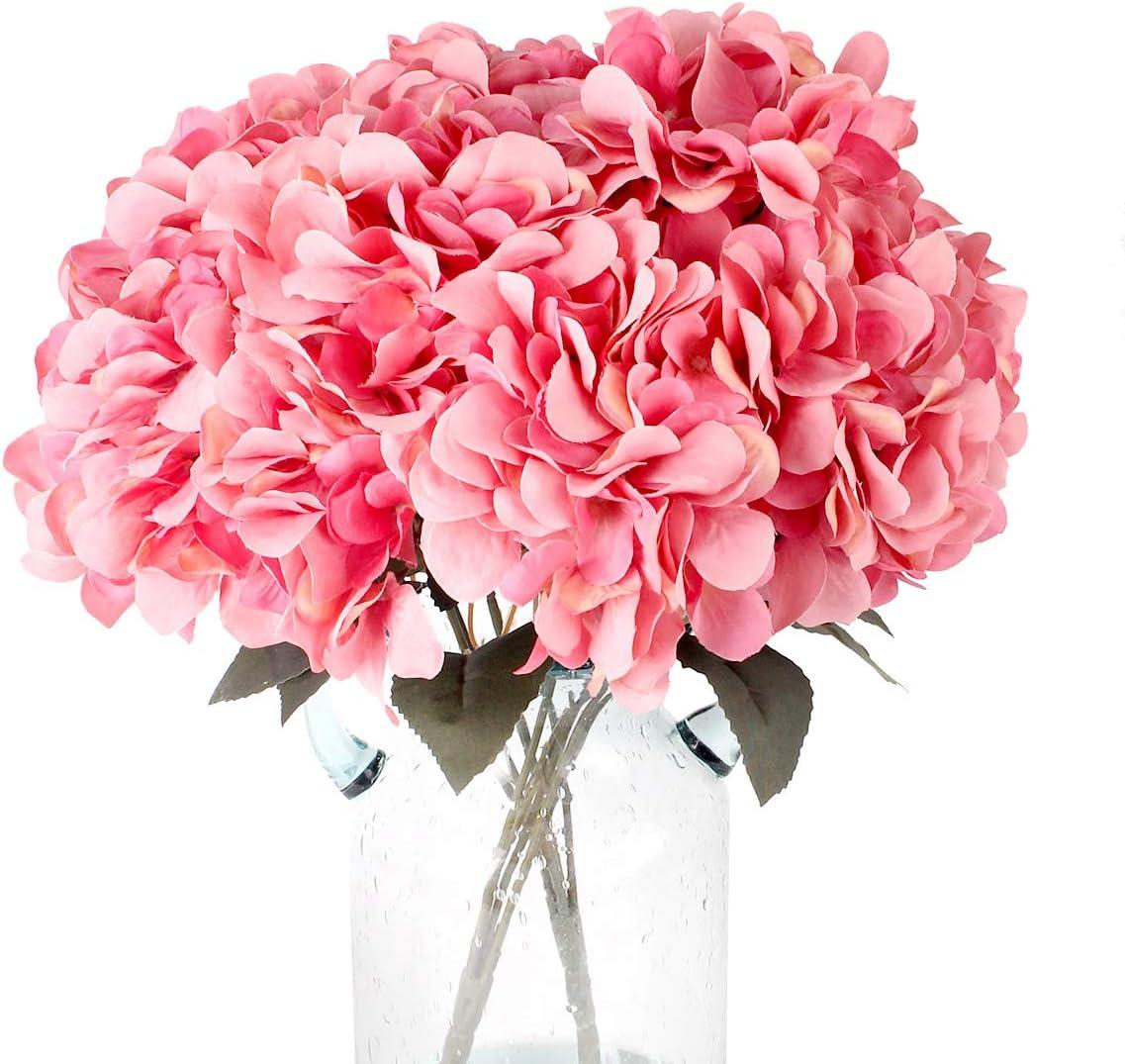 Artificial Hydrangea Flower Pink Bounquet