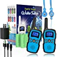 Wishouse 2 Rechargeable Walkie Talkie for Kids with Charger Battery,Family Walky Talky for Adult Cruise Ship, Outdoor Camping
