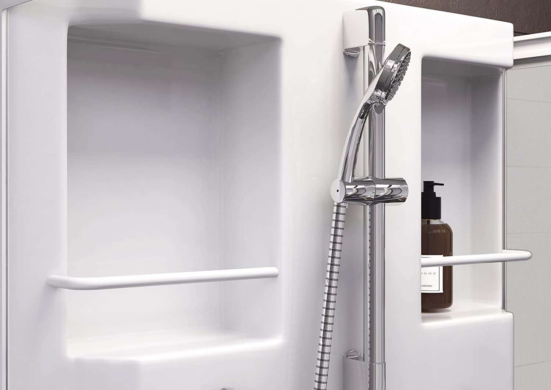 NN montado ducha completo ducha Cristal Siena, 1 pieza, 80 x 80 cm, color blanco, 4056397002031: Amazon.es: Bricolaje y herramientas