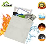 Fireproof Bag,15''x11'' Large Size Fire Resistant Document Bag for Cash, Passports, Document, Jewelry, Photos, Valuables - No Itchy Fiberglass Withstand Over 1000F