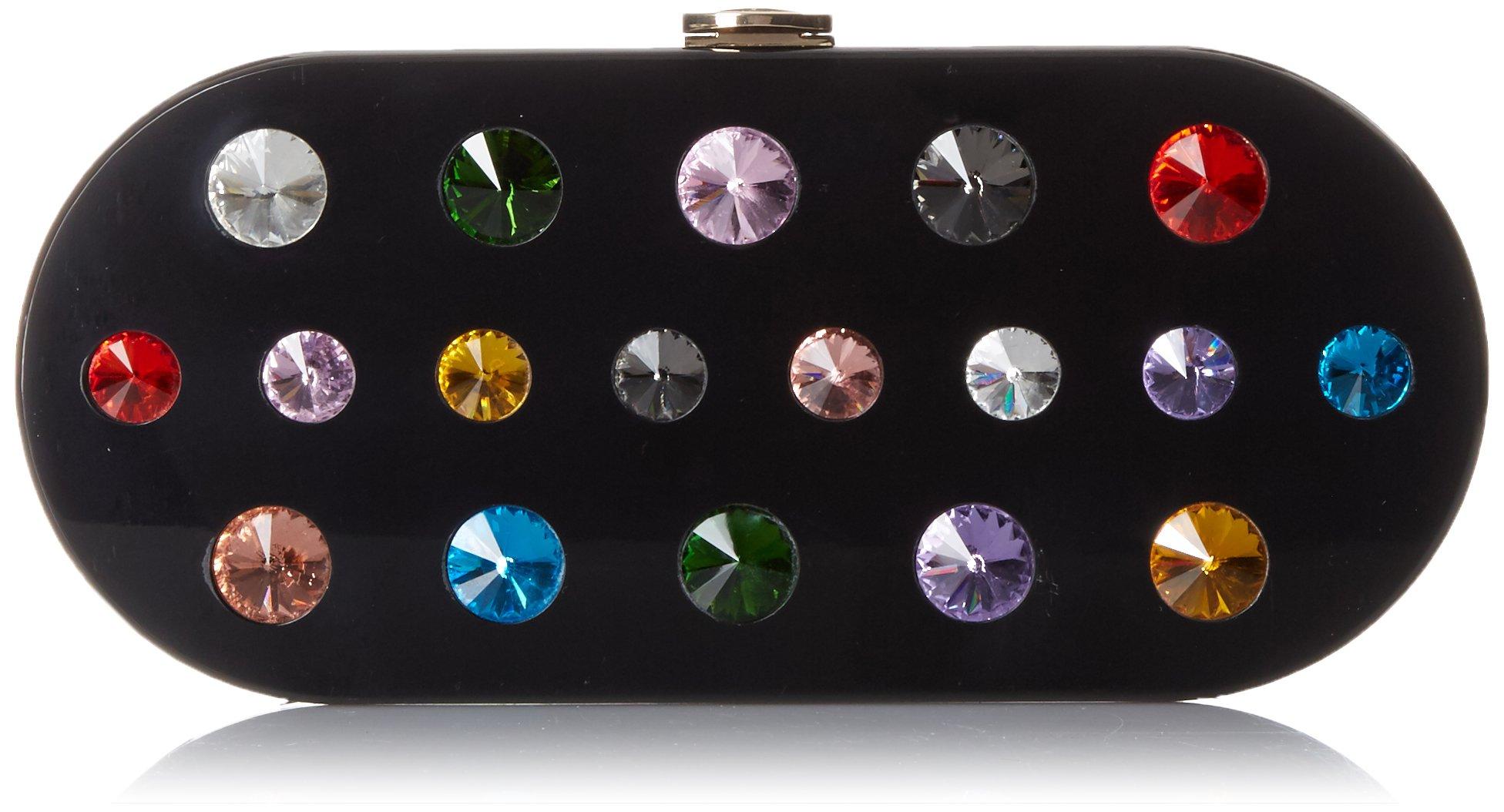 MILLY Oval Jewel Box Clutch