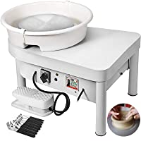 Mophorn Pottery Wheel 25CM Pottery Forming Machine 280W Electric Wheel for Pottery with Foot Pedal and Detachable Basin Easy Cleaning for Ceramics Clay Art Craft DIY