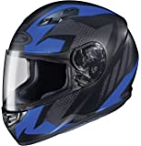 HJC Helmets CS-R3 Unisex-Adult Full Face Treague Motorcycle Helmet (Black/Blue, Medium)