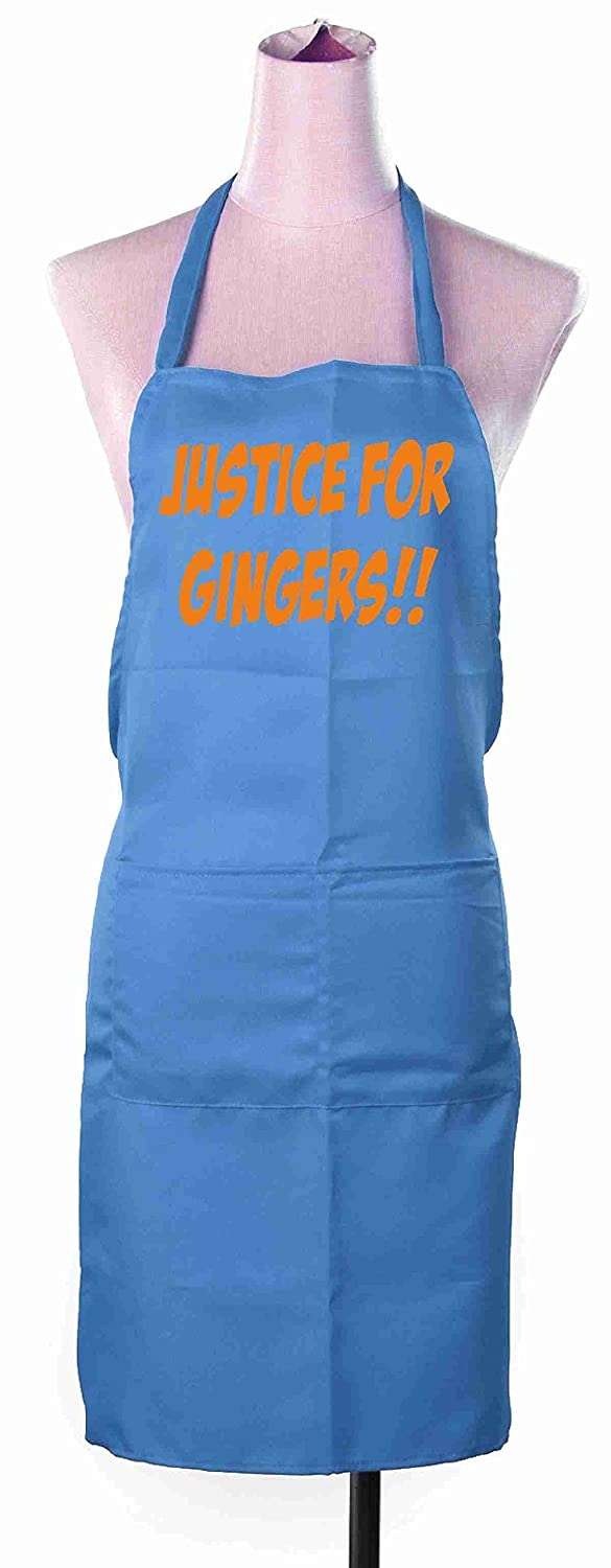 Justice For Gingers Unisex Chefs Kitchen Apron Funny Novelty Xmas Secret Santa Gift FFAP168-BROWN