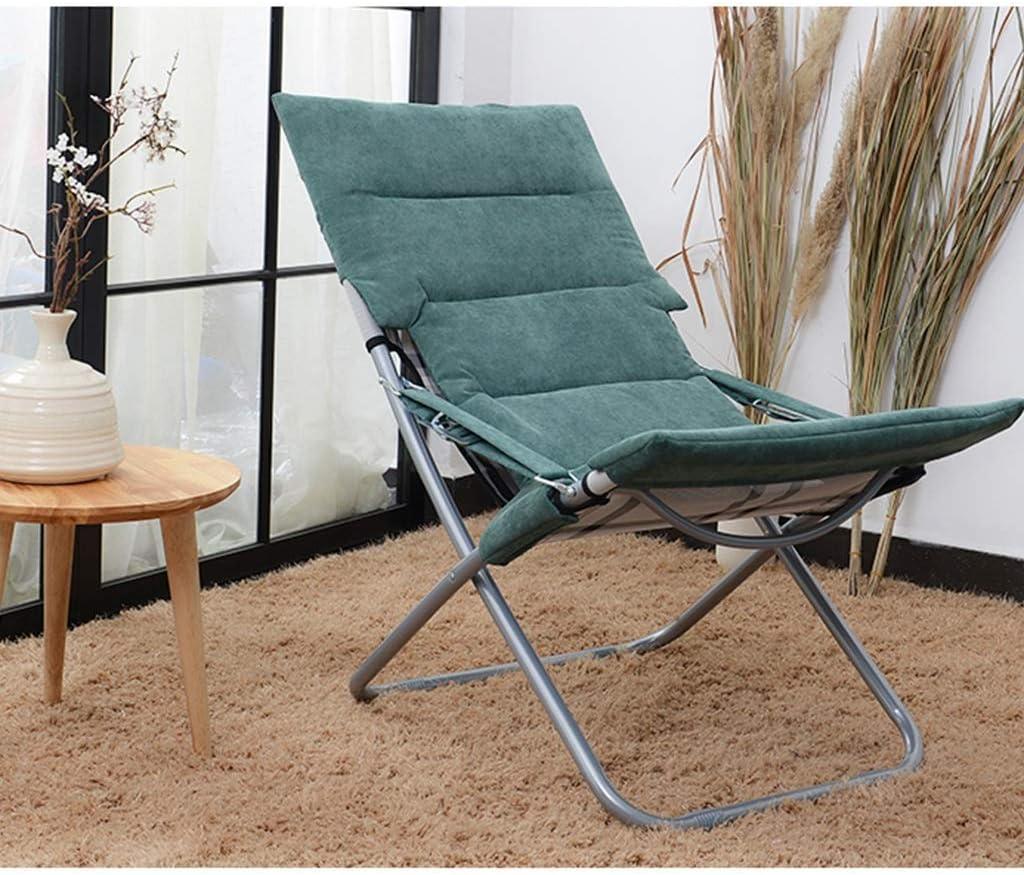 JHSHENGSHI Beach Chair Fabric Folding Chair, Portable Folding Chair Beach Chair Detachable Cushion 3 Colors (Color : Purple) Brown