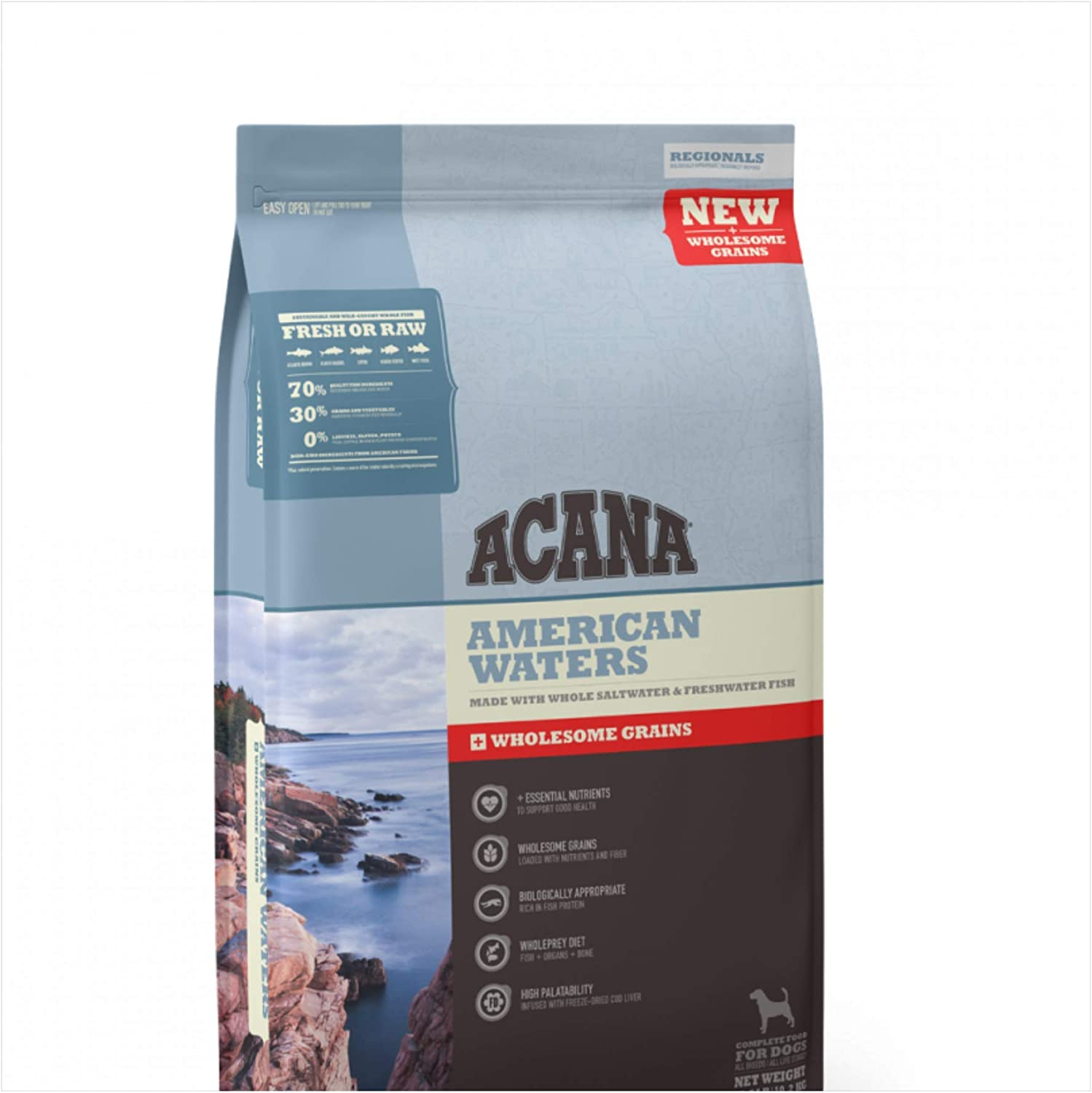 ACANA American Waters Wholesome Grains Dry Dog Food Formula, 11.5 Pound Bag (New)