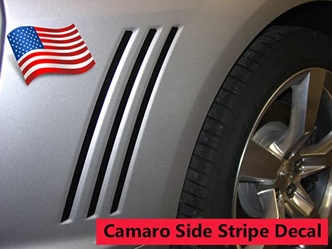 2010 2011 2012 2013  2014 2015 Chevy Camaro Fender to Side Rally Stripes Decals