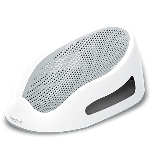 Angelcare Baby Bath Support in white with grey mesh surface