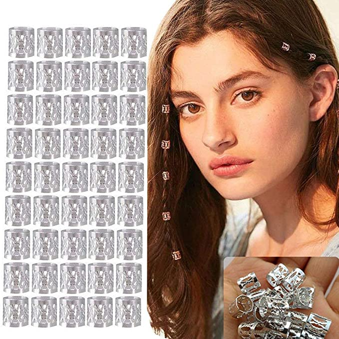 10x 20x Dreadlocks Beads Dread lock Metal Cuffs Hair Decor Filigree Tu MWP