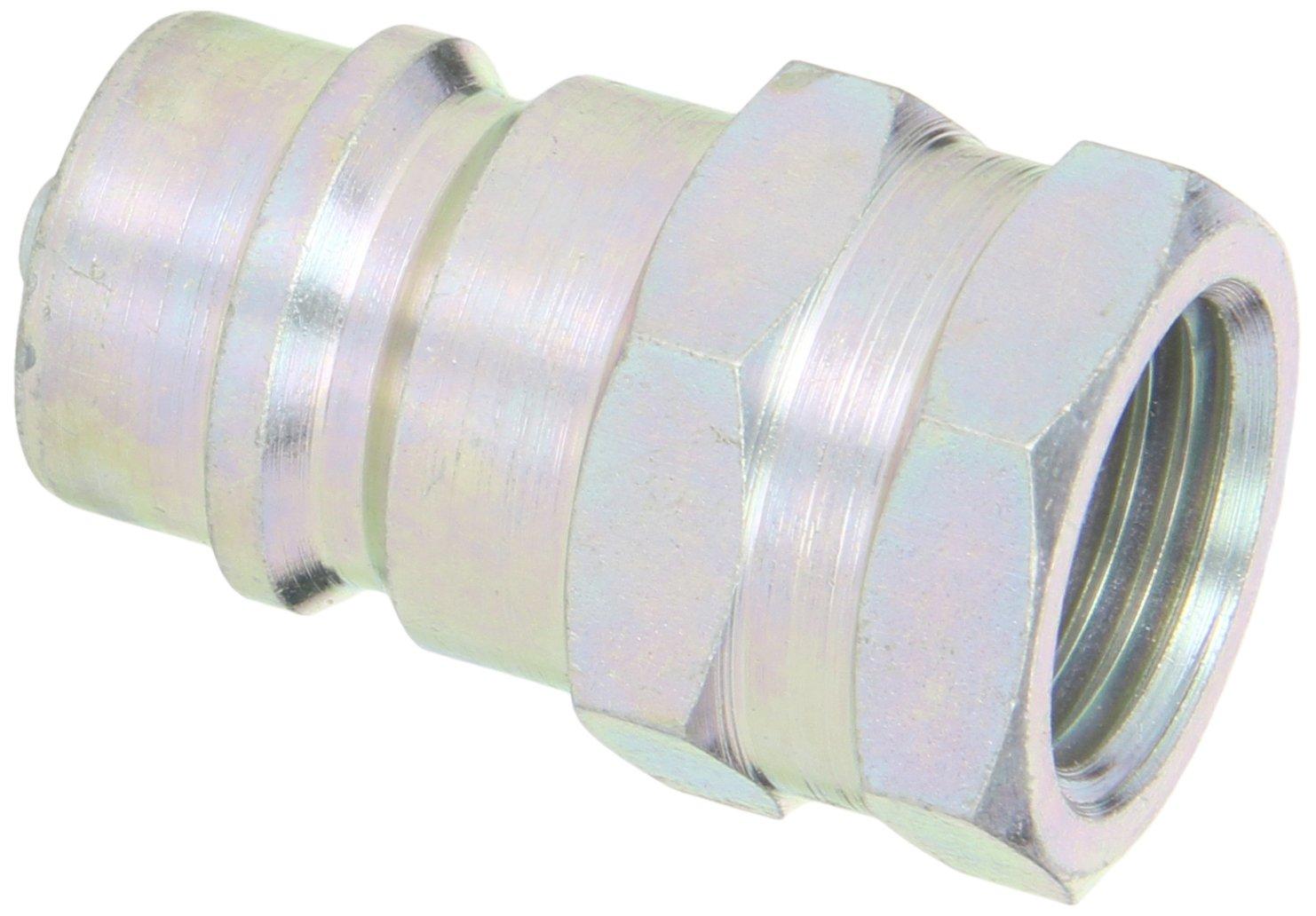 Dixon Valve K4F4 Steel ISO-A Interchange Hydraulic Fitting, Nipple, 1/2'' Coupling x 1/2'' - 14 NPTF Female Thread by Dixon Valve & Coupling (Image #1)