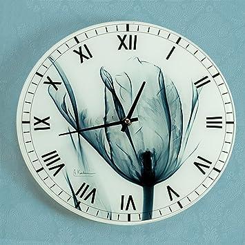 VQA Drm Elegante Salón Pastoral Moderno Dormitorio Creativo Reloj Reloj Cocina Reloj Silencioso Reloj de Pared
