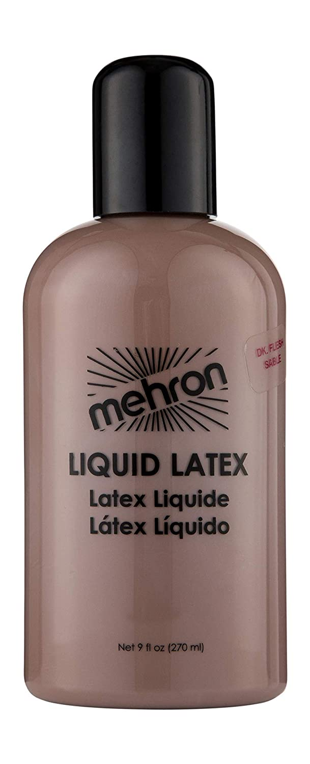 Mehron Makeup Liquid Latex (9 oz) (Dark Flesh)