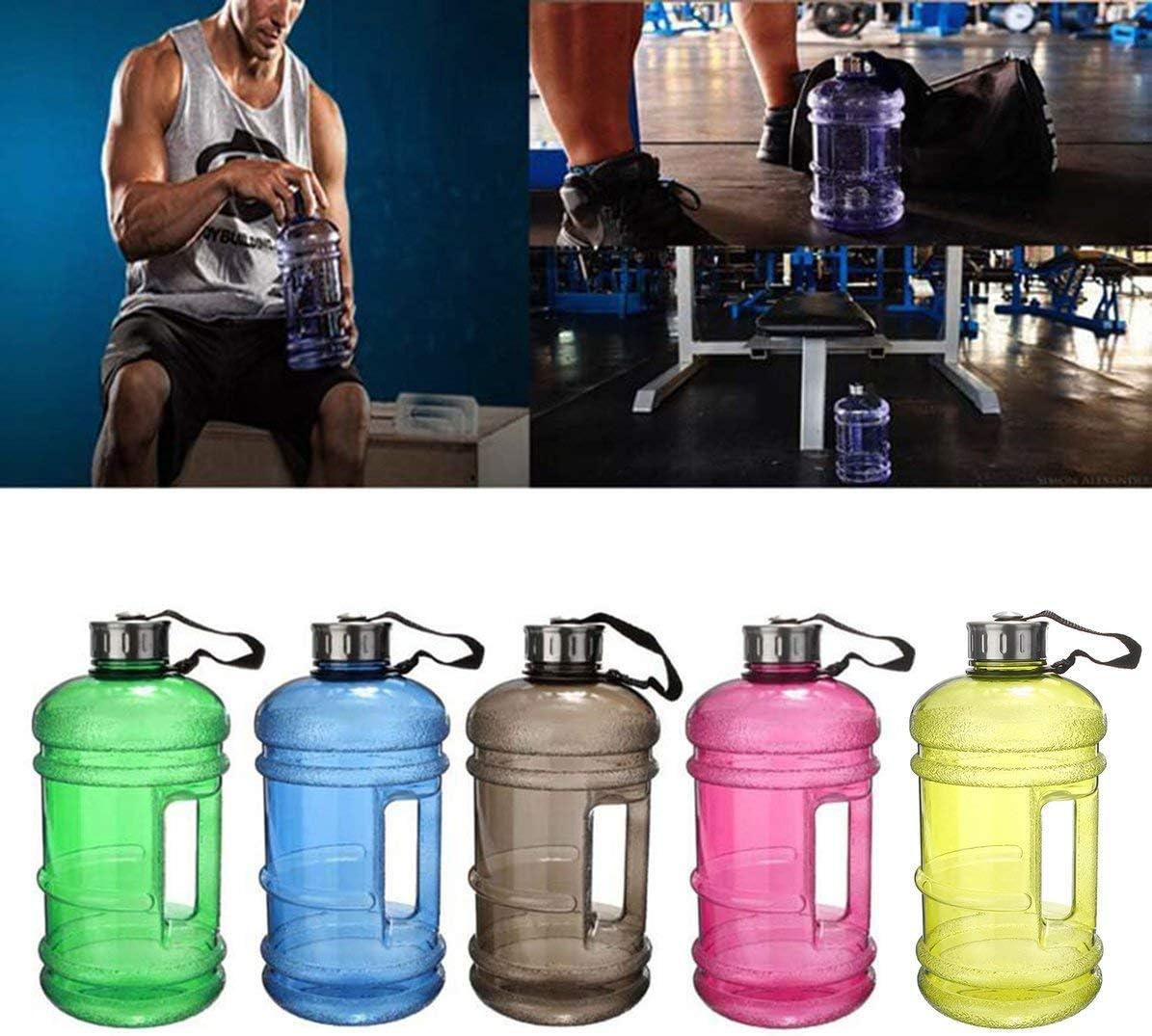 Blau Lisadi 2.2L Gro/ße Gro/ße Wasserflasche Gro/ße Kapazit/ät Wasserkocher Outdoor Sports Gym Fitness Wasserflasche f/ür das Training Camping Laufen