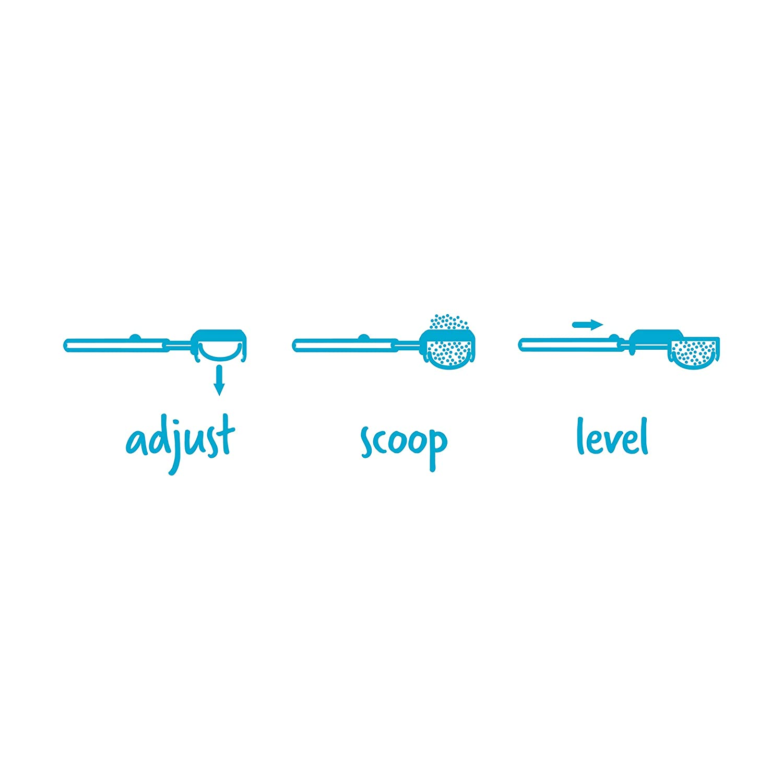 Dreamfarm Levoop Adjustable Leveling Scoop for Coffee Protein//Formula Powder