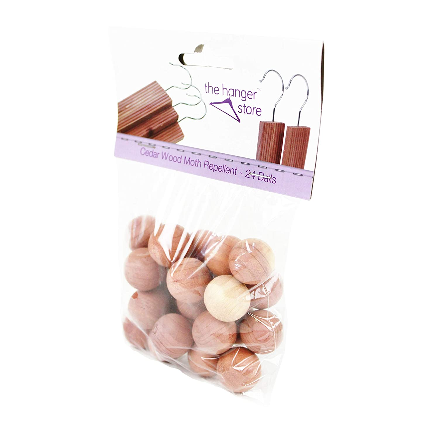 Drawer Fresheners The Hanger Store 24 Cedar Wood Anti Moth Repellent Balls with Odour Protection Wardrobe