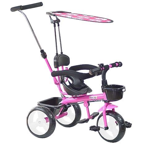 boppi® Triciclo 4 en 1 para niños de 9 a 36 Meses - Rosa: Amazon.es: Juguetes y juegos