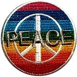Rainbow símbolo de paz del Patch '7.5 x 7.5 cm' - Parche Parches Termoadhesivos Parche Bordado Parches Bordados Parches Para La Ropa Parches La Ropa Termoadhesivo Apliques Iron on Patch Iron-On Apliques