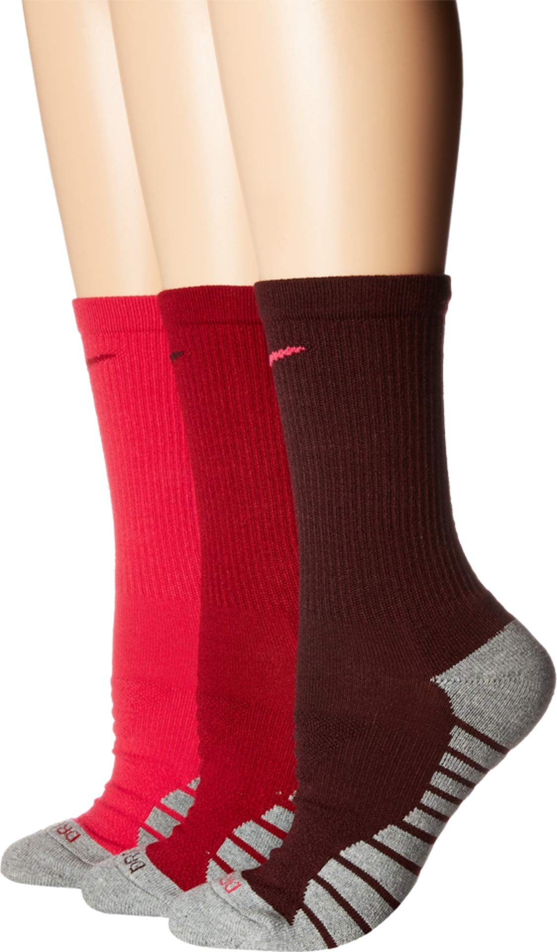 Women's Nike 3-pk. Dri-Fit Cushioned Crew Socks by Nike
