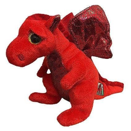 Ty Beanie Babies Plush - Y Ddraig Goch Welsh Dragon 15cm