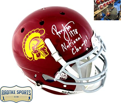 c3519a95b Image Unavailable. Image not available for. Color  Ronnie Lott Autographed Signed  USC Trojans Schutt Authentic NCAA Helmet ...