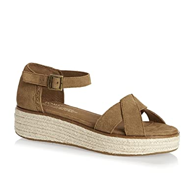 ac71863812c TOMS Women s Harper Wedge Toffee Suede 5.5 B US B ...