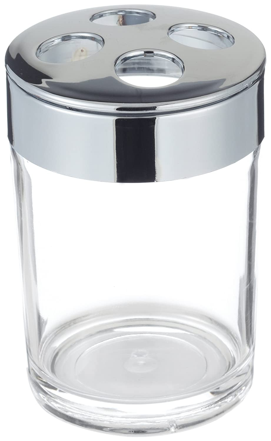 Carnation Home Fashions Clear Acrylic Tooth Brush Holder with Chrome Trim BA-ACR//TB
