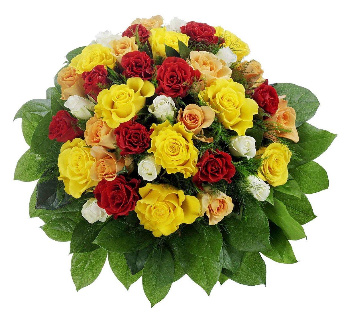 Bunter Rosenstrauß mit 36 Rosen, 1 Strauß