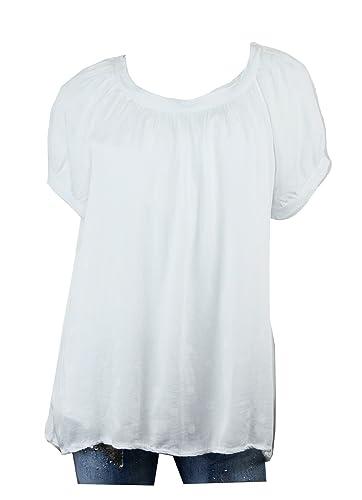 Trends für Dich - Camisas - Túnica - Lunares - Cuello redondo - para mujer