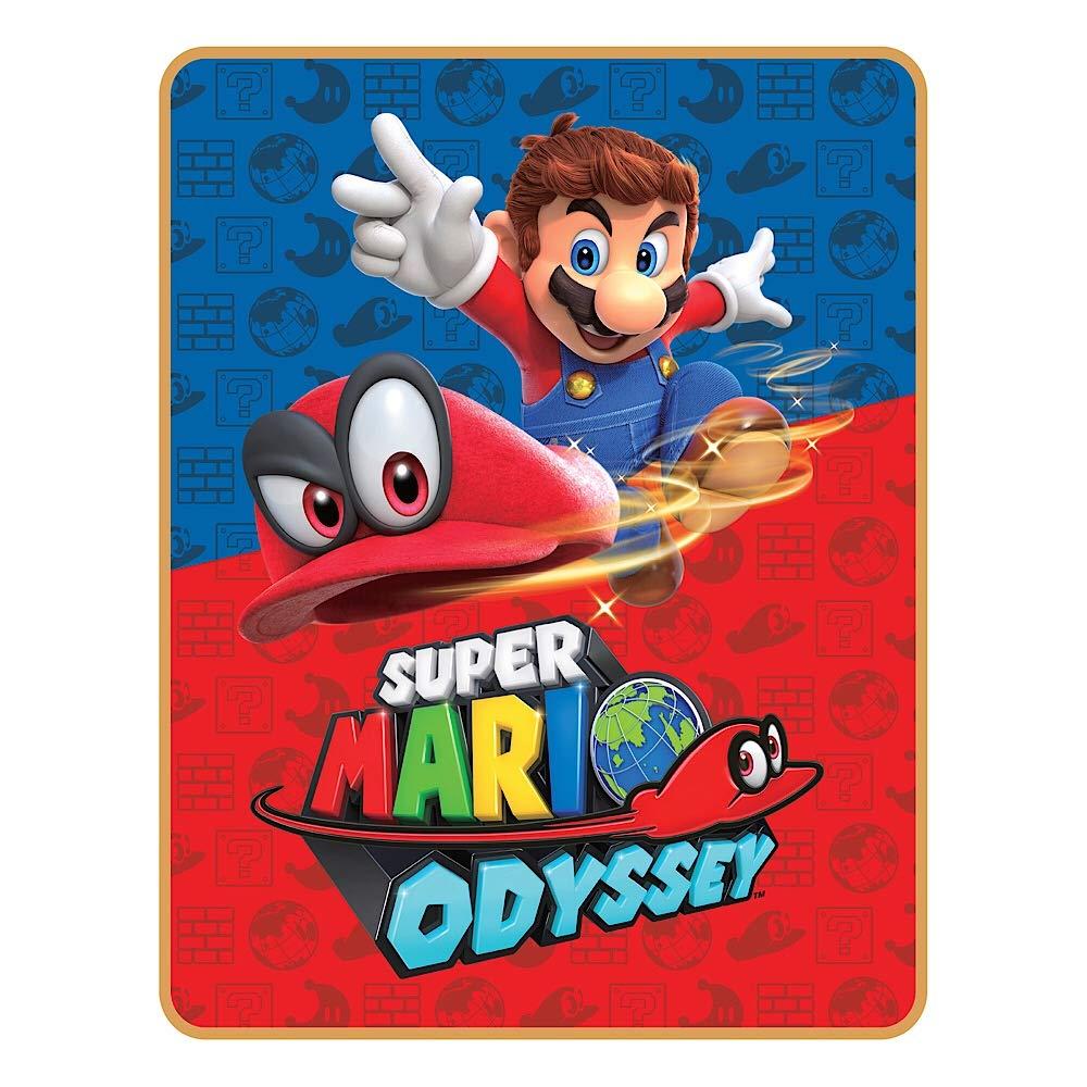 Super Mario Odyssey World Plush Throw Blanket - 40 in. x 50 in. by Super Mario