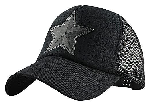 b4c081dd118b Mancave Unisex Acrylic Cotton Star Applique Camo Print Mesh Panel Baseball  Cap