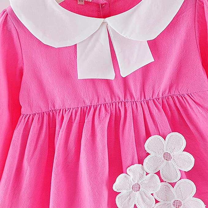 Kasien Toddler Baby Girls Dress Toddler Baby Kids Girls Fly Sleeve Ruched Floral Flowers Print Dresses Clothes