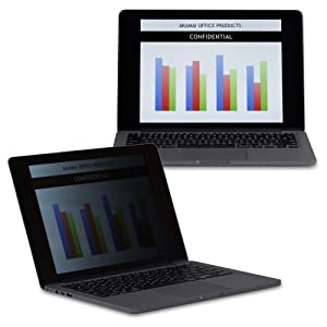 Akamai Office Products Apple MacBook Compatible – Premium Black Privacy Screen and Blue Light Screen Protector– Anti-Glare, Anti-Scratch, Blocks 96% UV (13 inch MacBook Pro 2012-mid 2016, Black)