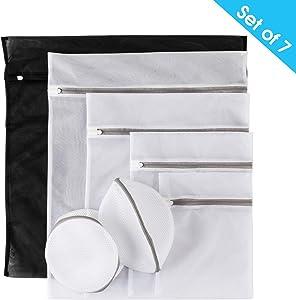 Mesh Laundry Bags, Laundry,Blouse, Hosiery, Stocking, Bra Lingerie, Home Laundry Bag (Set of 7)