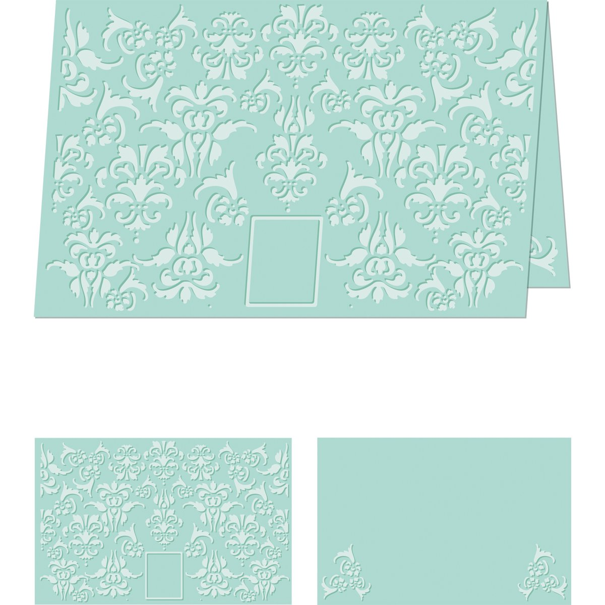 Craftwell USA Embossing Folder, Divine Damask, 8.5 by 11-Inch