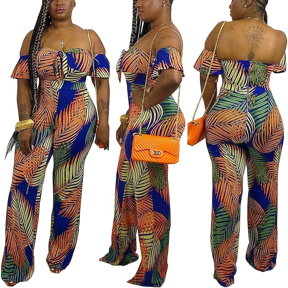 Short Sleeve High Waist Jumpsuits Button Romper Playsuit ECHOINE Womens Graffiti Cartoon Printing One-Piece
