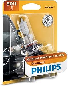 Philips 9011 HIR Standard Halogen Replacement Headlight Bulb, 1 Pack