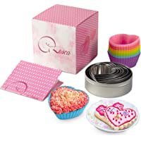 Rosca Heart Cookie Cutter & Heart Silicone Cupcake Mold