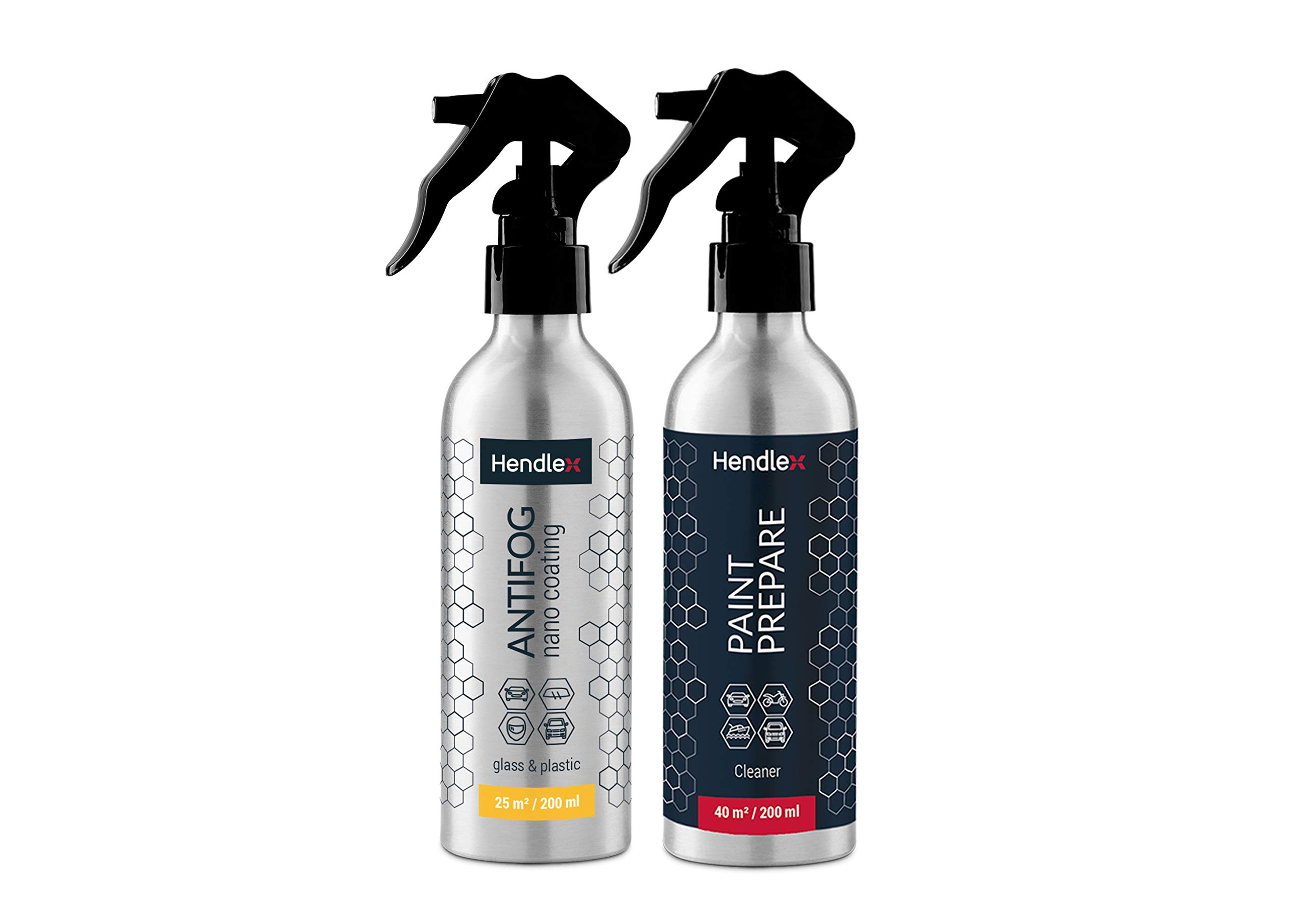 Hendlex Anti Fog Spray Nano Coating Anti Mist for Glass & Plastic Treatment Water Resistant Spray Car Window Windshield Glasses Mirrors Helmet (Big Kit)