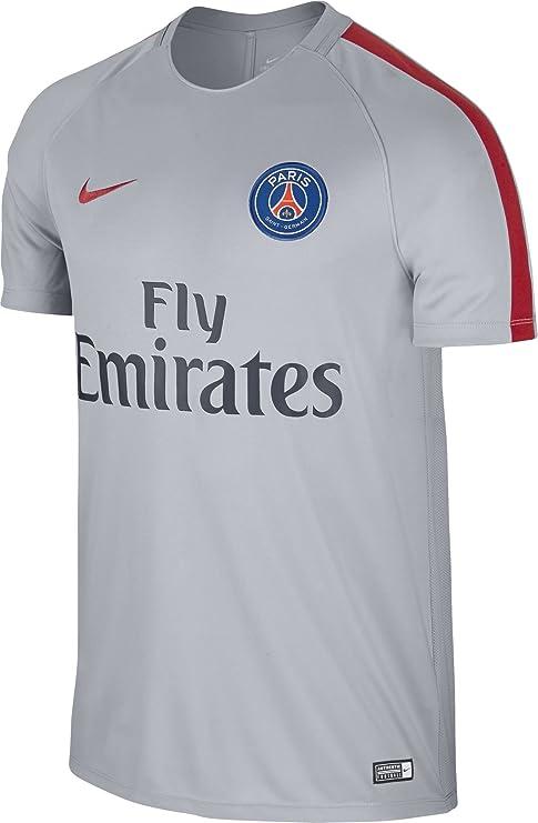 Nike PSG M Nk Dry Sqd SS Camiseta de Manga Corta París Saint-Germain FC