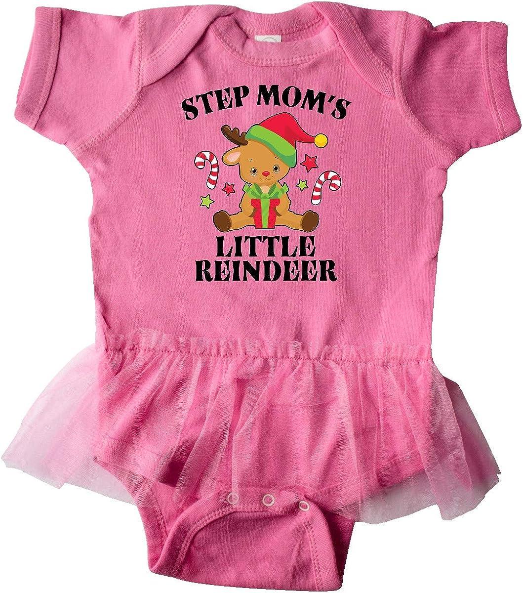 inktastic Christmas Step Moms Little Reindeer with Candy Infant Tutu Bodysuit