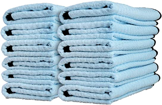 and More Adams Waterless Wash Microfiber Towel Waffle Weave Design Traps Dirt /& Safely Cleans Your Car Boat Truck 4 Pack Cleans with Waterless Wash System Dries RV